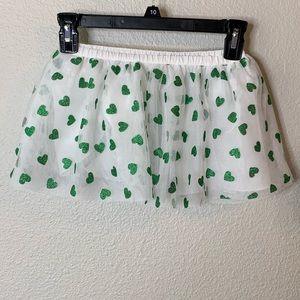 NWT Epic Threads Green Heart Tutu Skirt